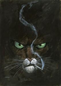 Affiche Blacksad avec cigarette